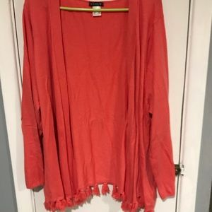 VENUS Sweaters - Venus orange sweater with tassel details